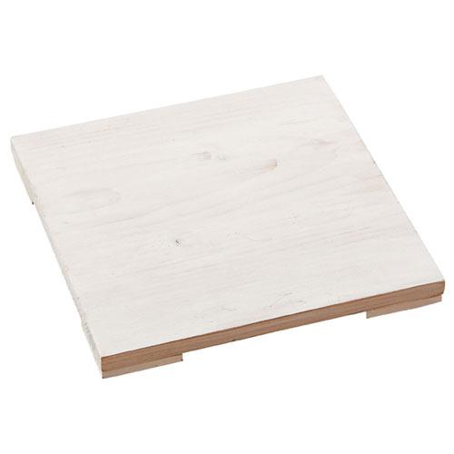 【まとめ買い10個セット品】 木製ステージ アンティーク調 ホワイト W19.8cm【店舗什器 小物 ディスプレー パネル ディスプレー 棚 店舗備品】【ECJ】