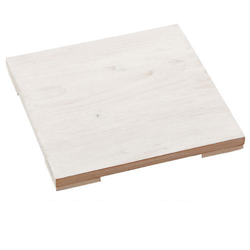 【まとめ買い10個セット品】 木製ステージ アンティーク調 ホワイト W24.8cm【店舗什器 小物 ディスプレー パネル ディスプレー 棚 店舗備品】【ECJ】