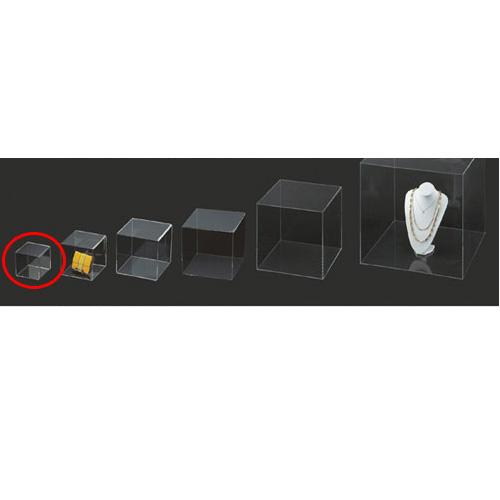 【まとめ買い10個セット品】 アクリル5面ボックス 透明 15cm角【店舗什器 小物 ディスプレー パネル ディスプレー 棚 店舗備品】【ECJ】