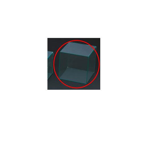 【まとめ買い10個セット品】 アクリル5面ボックス グリーンエッジ 30cm角【店舗什器 小物 ディスプレー パネル ディスプレー 棚 店舗備品】【ECJ】