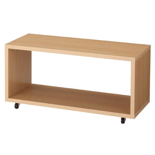 【まとめ買い10個セット品】 【業務用】木製ロの字型収納ボックス W90cm用 キャスタータイプ エクリュ【店舗什器 パネル ディスプレー 棚 店舗備品】【ECJ】