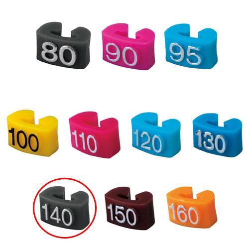 【まとめ買い10個セット品】 サイズチップ 子供用 140 グレー 150個【店舗什器  小物 ディスプレー ハンガーチップ サイズチップ 店舗備品】【ECJ】