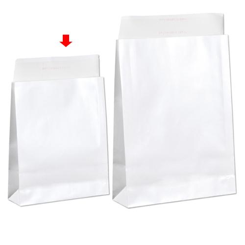 【まとめ買い10個セット品】 宅配袋 ホワイト ラミネートあり 小 100枚【店舗什器 小物 ディスプレー ギフト ラッピング 包装紙 袋 消耗品 店舗備品】【ECJ】