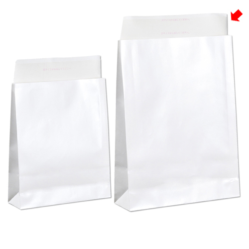【まとめ買い10個セット品】 宅配袋 ホワイト ラミネートあり 大 100枚【店舗什器 小物 ディスプレー ギフト ラッピング 包装紙 袋 消耗品 店舗備品】【ECJ】