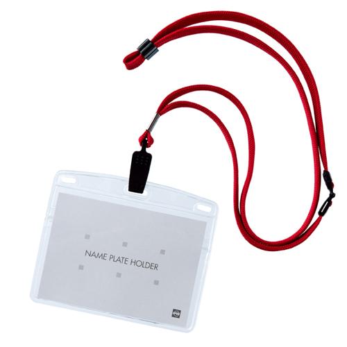 【まとめ買い10個セット品】 クリップ式 吊り下げ名札 赤 10個【ECJ】