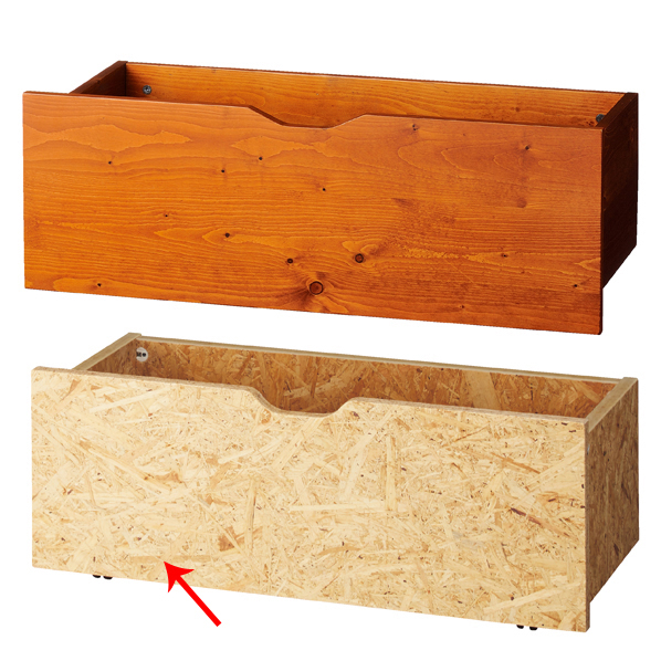 【まとめ買い10個セット品】 木製収納トロッコW90cm OSB t23mm (地板MDF) 【ECJ】