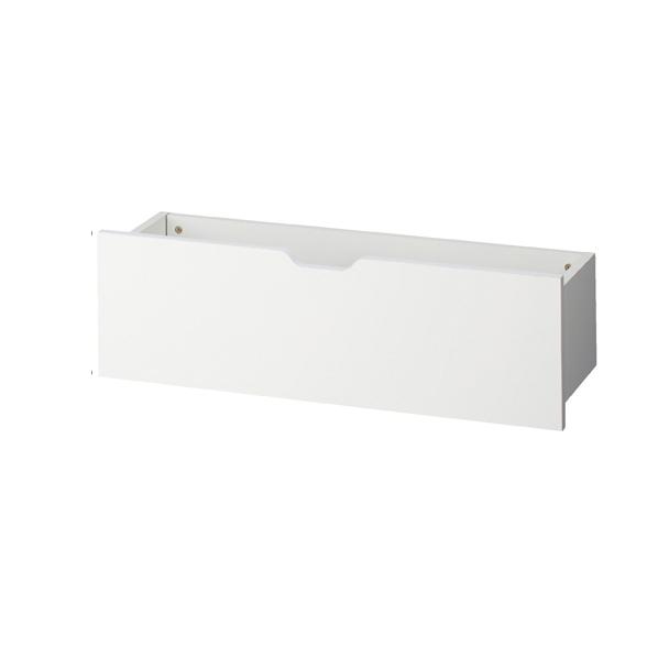 【まとめ買い10個セット品】 浅型収納トロッコW86.4×D27×H28cm ホワイト 【ECJ】