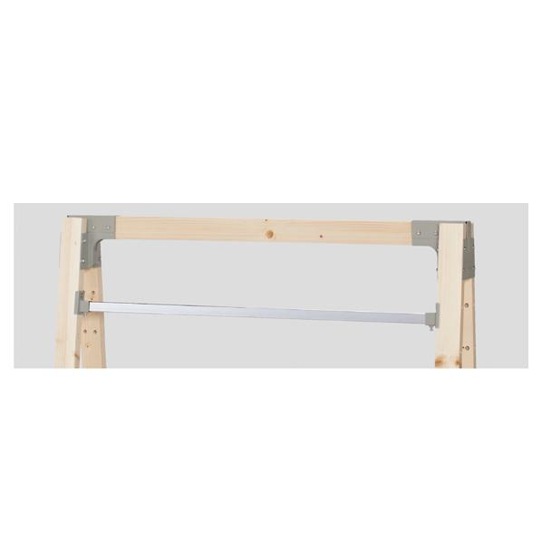 【まとめ買い10個セット品】 デルタフレーム用ミニ角バーセット W90cm用 クローム+セメントメタリック粉体塗装 【ECJ】