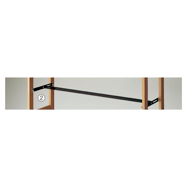 【まとめ買い10個セット品】 ウェルウッド ミニ角バーセット W90cm ブラック 1セット 【ECJ】