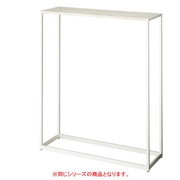 【まとめ買い10個セット品】 LR4中央片面ホワイト本体W120×H150cmガラス 天板セット 【ECJ】