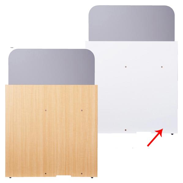 【まとめ買い10個セット品】 ローカウンター用 仕切りパネル ホワイト 【ECJ】
