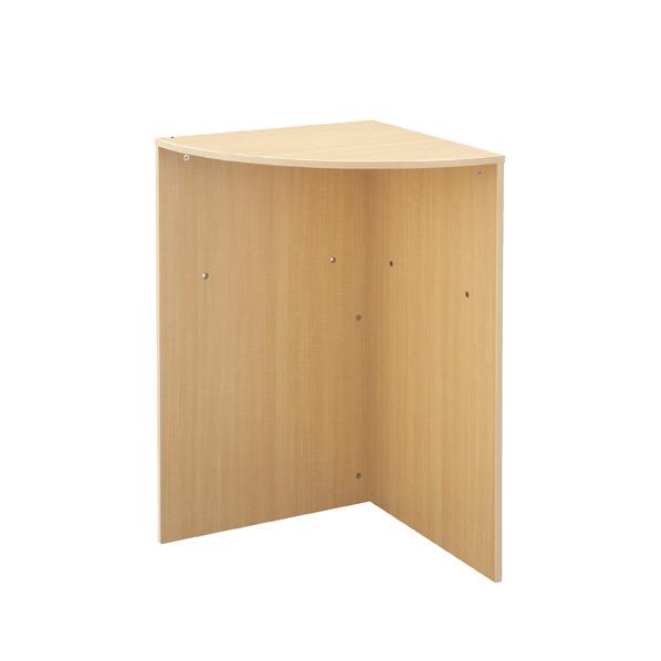 【まとめ買い10個セット品】 木製ハイカウンター用コーナー台 エクリュ 【ECJ】