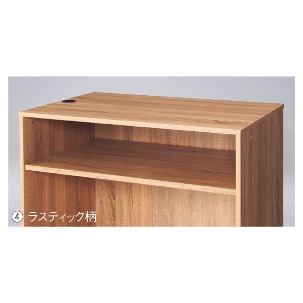 【まとめ買い10個セット品】 木製カウンターH100cm W120cm中間棚 ラスティック 【ECJ】
