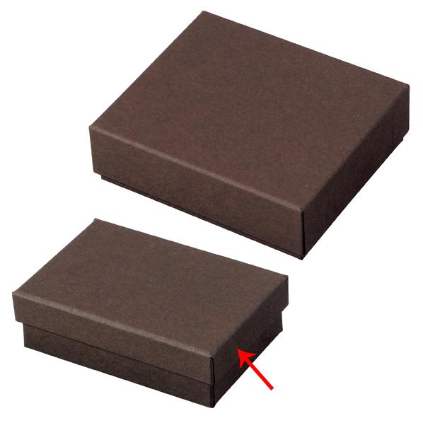 【まとめ買い10個セット品】 フェザーケース ブラウン 8×5.4×2.7cm 20個 【ECJ】