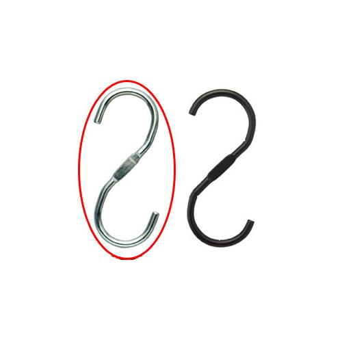 【まとめ買い10個セット品】 スチール製ディスプレー用フック クローム 5個【店舗什器 パネル ディスプレー ハンガー 棚 店舗備品】【ECJ】