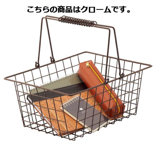 ワイヤーバスケット M クローム 12個【店舗備品 店舗インテリア 店舗改装】【ECJ】