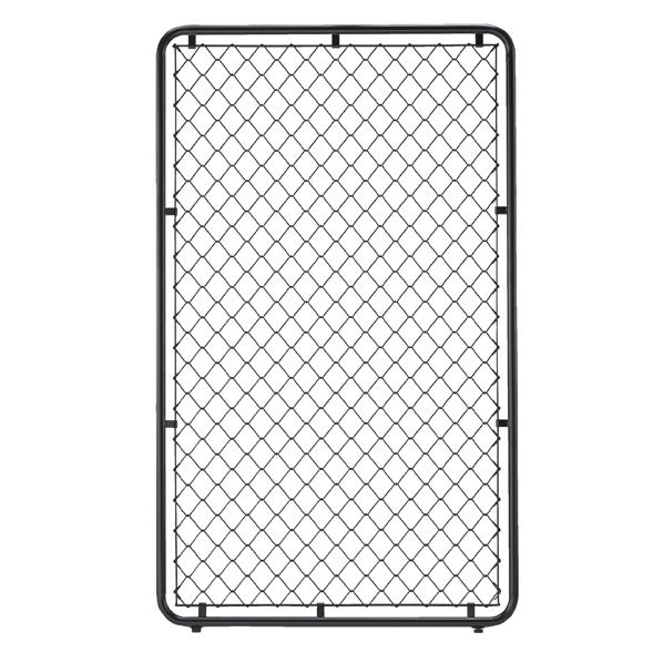 【まとめ買い10個セット品】 フェンスフレーム ブラック フェンスあり W90×H150cm アジャスター付き 【ECJ】