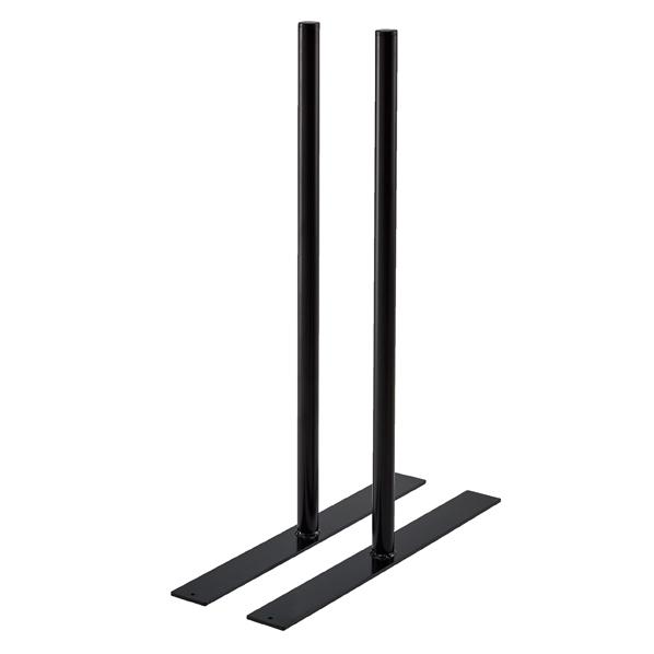 【まとめ買い10個セット品】 フェンスフレーム ブラック用自立脚 2本組 D45cm 【ECJ】