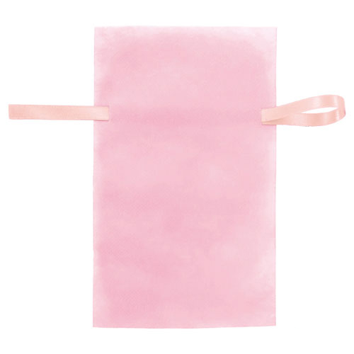 【まとめ買い10個セット品】 不織布リボン付きギフトバッグ ピンク 31×50(37.2) 10枚【店舗備品 店舗インテリア 店舗改装】【ECJ】
