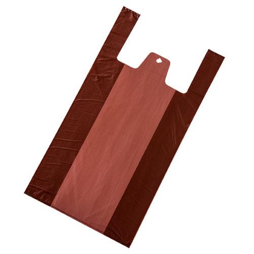 無地 レジ袋 ブラウン 18×35(23)×横マチ11 6000枚【店舗備品 包装紙 ラッピング 袋 ディスプレー店舗】【ECJ】