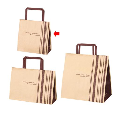 【まとめ買い10個セット品】 柄入り手提げ紙袋 平ひも ブラマンジェ 18×8×18 300枚【店舗備品 包装紙 ラッピング 袋 ディスプレー店舗】【ECJ】