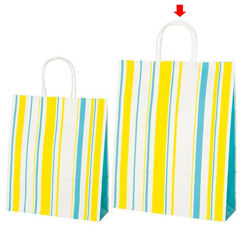 【まとめ買い10個セット品】 マルチストライプ カジュアル 32×11×40 200枚【店舗備品 包装紙 ラッピング 袋 ディスプレー店舗】【ECJ】