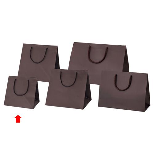 【まとめ買い10個セット品】 マット貼りブライトバッグ ブラウン 23×20×23 50枚【店舗備品 包装紙 ラッピング 袋 ディスプレー店舗】【ECJ】