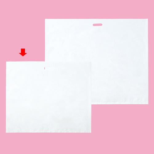 横長ホワイト 78×66 200枚【店舗備品 包装紙 ラッピング 袋 ディスプレー店舗】【ECJ】