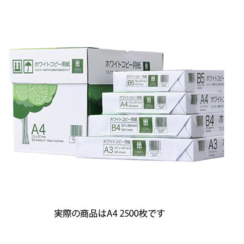 【まとめ買い10個セット品】 高白色コピー用紙 A4 2500枚【ECJ】
