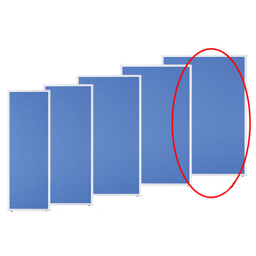アルミパーティション 布張り フック連結タイプ ブルー H180×W120cm 【メーカー直送/代金引換決済不可】【店舗備品 店舗インテリア 店舗改装】【ECJ】