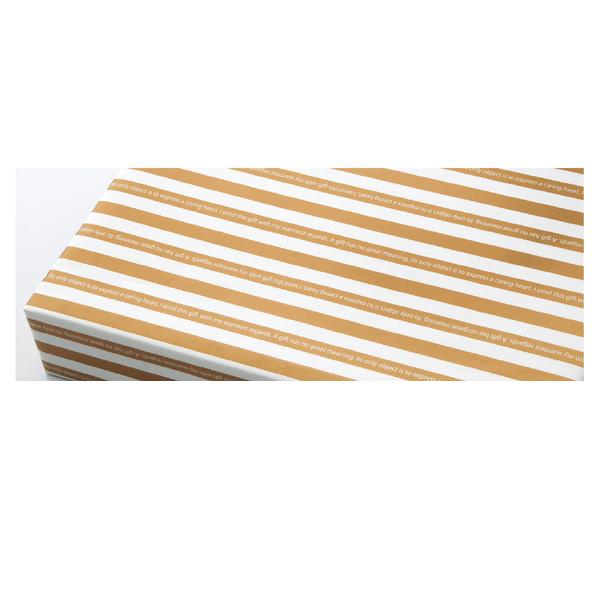 【まとめ買い10個セット品】 包装紙 ゴールドストライプ 半裁 500枚 【ECJ】