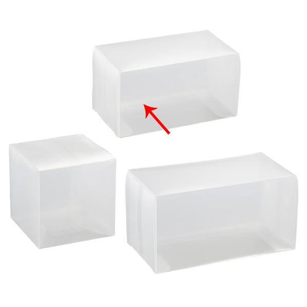 【まとめ買い10個セット品】 半透明ボックス 6×6×11cm 10枚 【ECJ】