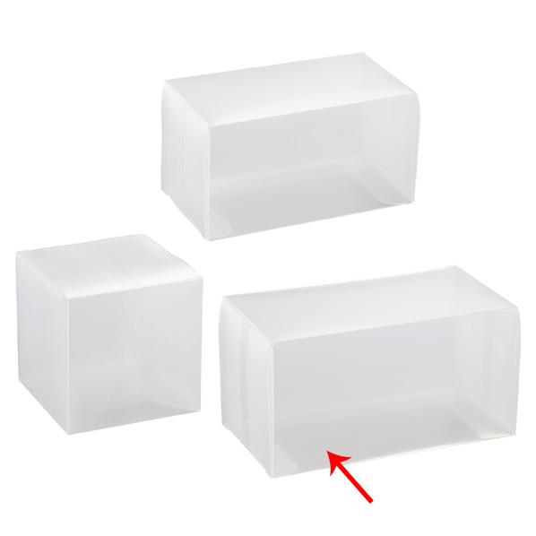 【まとめ買い10個セット品】 半透明ボックス 7×7×13cm 10枚 【ECJ】