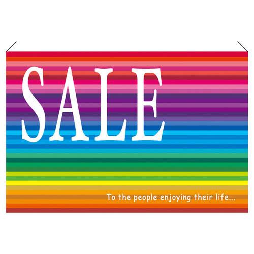 【まとめ買い10個セット品】 プリズム ワイドタペストリー SALE【販促用品 ポスター POP タグ 店舗備品】【ECJ】