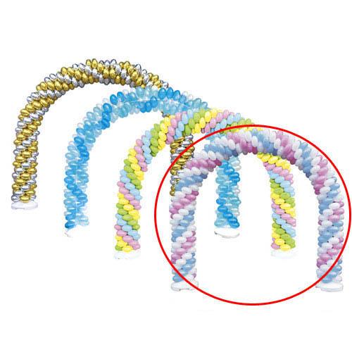 【まとめ買い10個セット品】 バルーンアーチセット 取り替えバルーン 白×ピンク×ライトブルー 70枚【販促用品 ポスター POP ディスプレー 店舗備品】【ECJ】