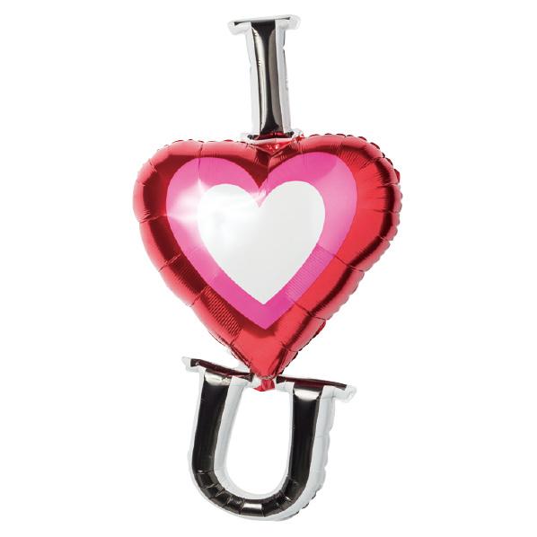 【まとめ買い10個セット品】 バルーンセット アイハートユー1セット 【バレンタインデー グッズ 飾り イベント 装飾】 【ECJ】