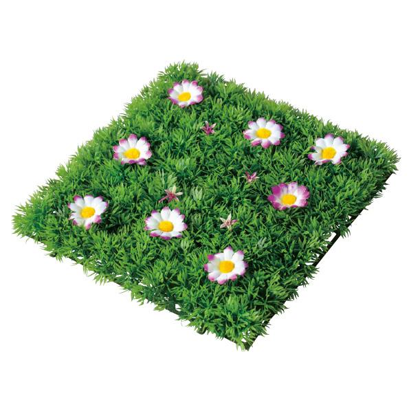 【まとめ買い10個セット品】 ガーデンマット パープル4枚 【春 夏 グリーン 緑 飾り イベント 装飾】 【ECJ】