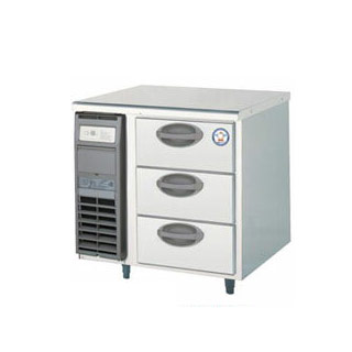 【業務用】福島工業 フクシマ 3段ドロワーテーブル冷蔵庫 幅755mm 奥行600mmタイプ YDC-080RM2