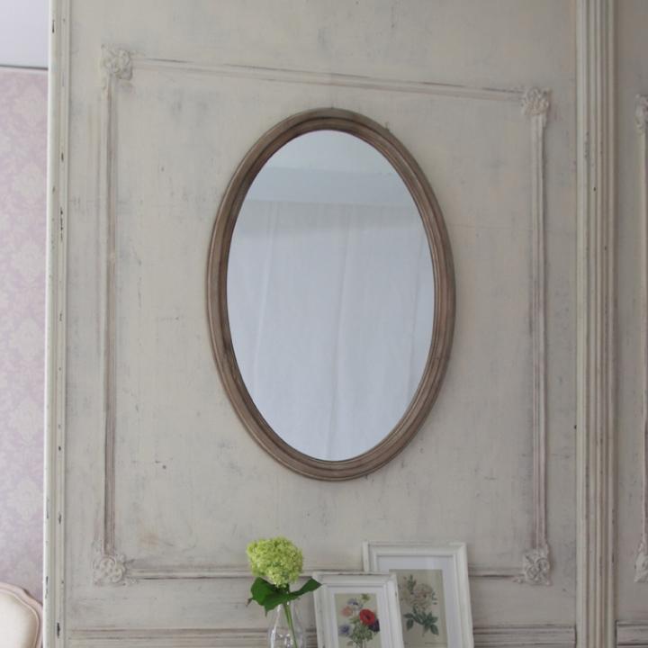 壁掛けミラー 壁掛け鏡 ウォールミラー アンティーク おしゃれ エレガント フレンチ 姫 輸入家具 ロココ調 白家具 ホワイト 木製 アンティーク調 クラシック 送料無料
