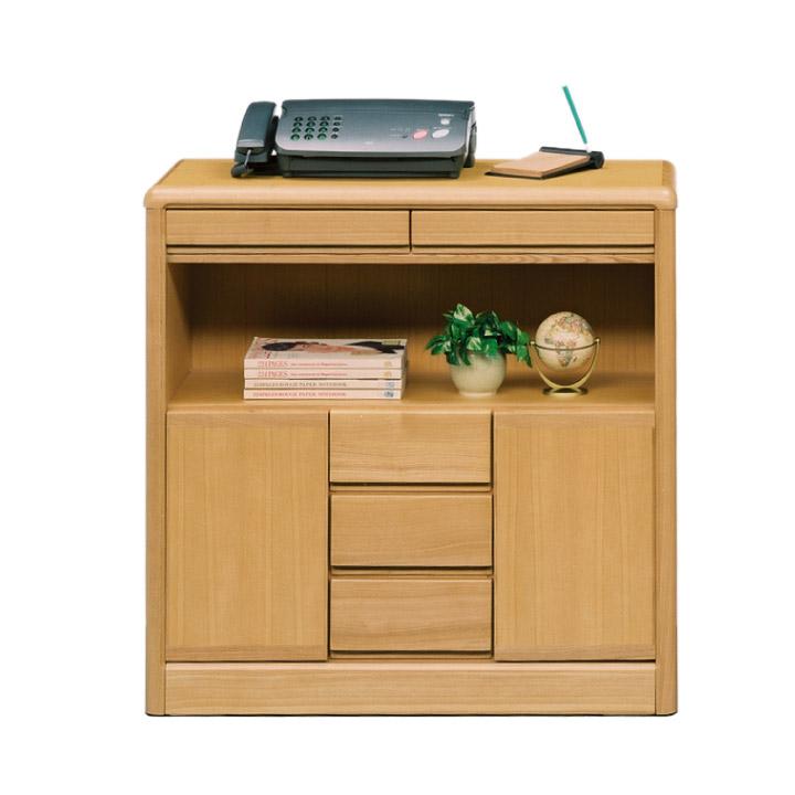 電話台 FAX台 幅90 タモ材 柾 背面化粧仕上げ 木製 北欧 モダン 省スペース 人気 箱組 アリ組 おしゃれ