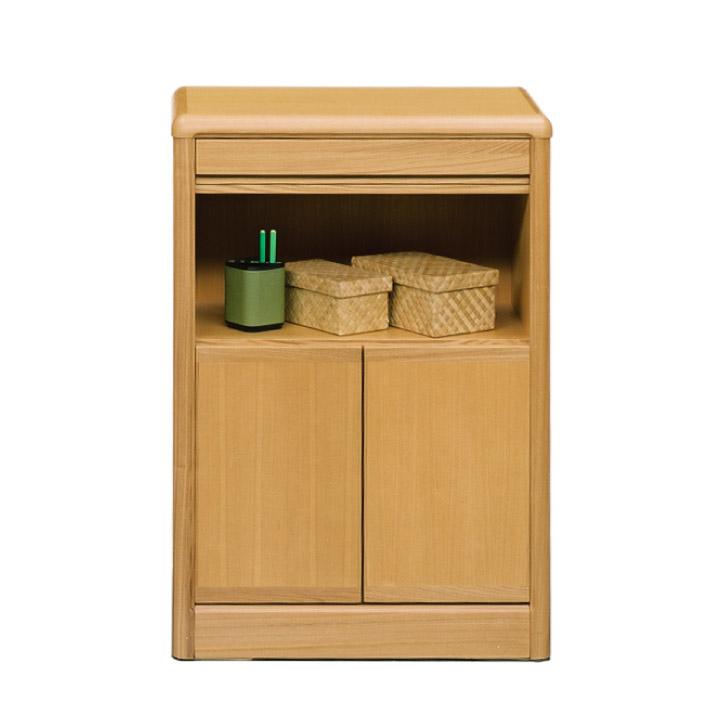 電話台 FAX台 幅60 タモ材 柾 背面化粧仕上げ 木製 北欧 モダン 省スペース 人気 箱組 アリ組 おしゃれ