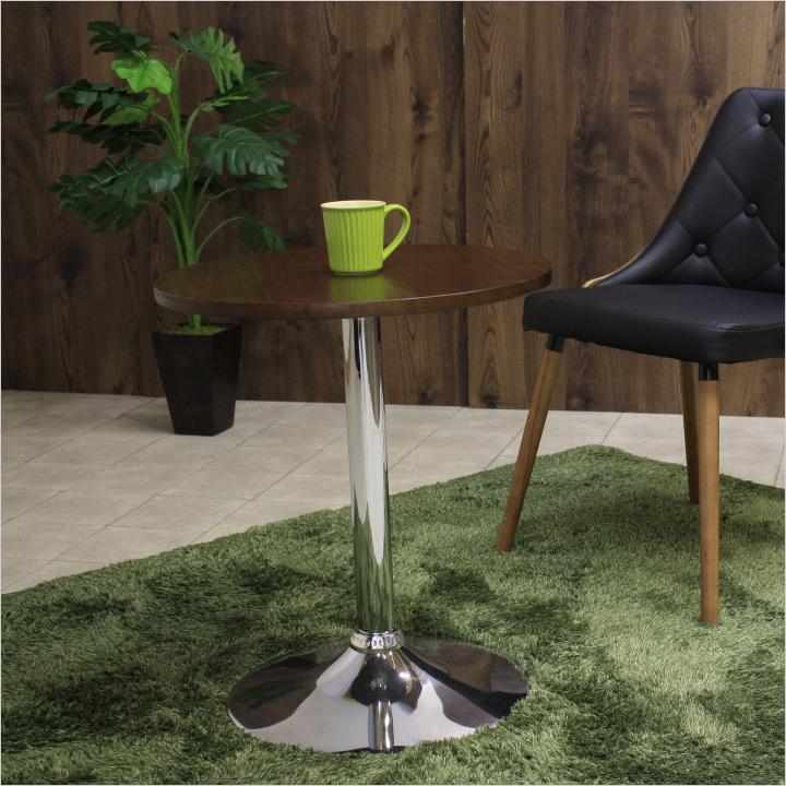 丸テーブル カフェテーブル 木製 ウォルナット ミニ ラウンドテーブル サイドテーブル リビングテーブル 丸 北欧 モダン ダイニング おうちカフェ コーヒーテーブル おしゃれ かわいい オシャレ 送料無料 通販