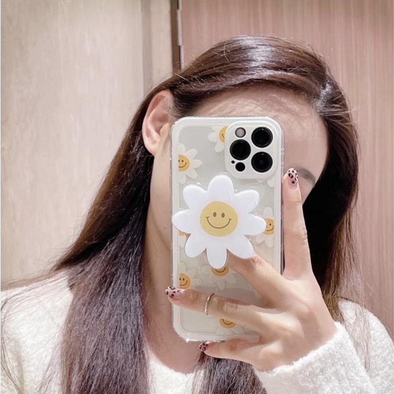 大人 かわいい おしゃれ シンプル レディース iphone12 ケース 韓国 フラワー 花 スマイル ニコちゃん グリップ 透明 X 7 12promax カバー XR クリア 高価値 正規品スーパーSALE×店内全品キャンペーン 12mini Xsmax 女性 SE2 11pro 11promax 11