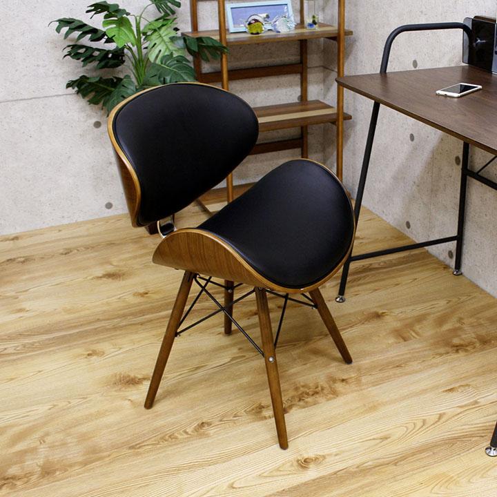 ダイニングチェア チェア イス いす 椅子 リビングチェア 食卓チェア 木製チェア カフェチェア ソファ ダイニング リビング 木製 北欧 モダン シンプル お洒落 合皮 PU ウォルナット オーク 送料無料 通販