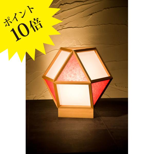 A522-C 「的 mato」 白×緋(ひ) 新洋電気 Lampada[テーブル・フロアスタンドライト/和風照明]