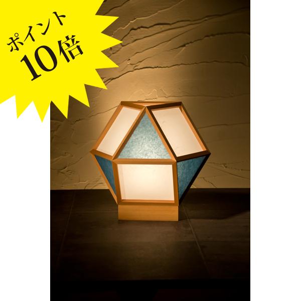 A522-D 「的 mato」 白×藍(あい) 新洋電気 Lampada[テーブル・フロアスタンドライト/和風照明]