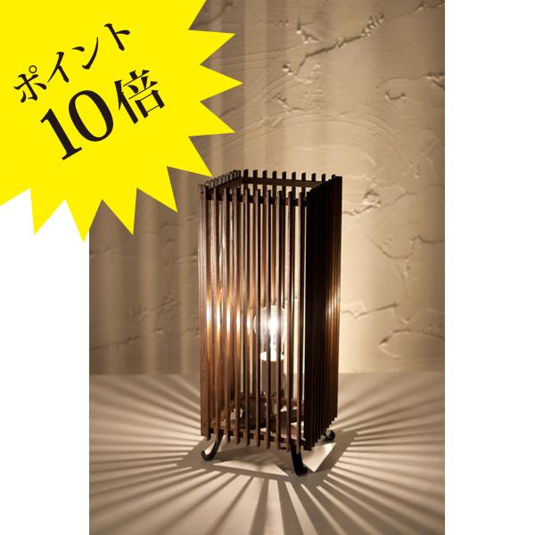 A535-T 「簾 ren」 L 民芸塗 中間調光タイプ 新洋電気 Lampada[テーブル・フロアスタンドライト/和風照明]