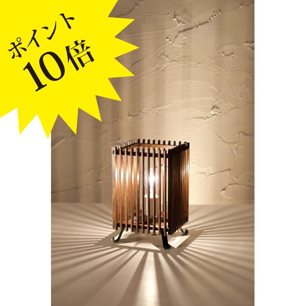 A536-T 「簾 ren」 S 民芸塗 中間調光タイプ 新洋電気 Lampada[テーブル・フロアスタンドライト/和風照明]