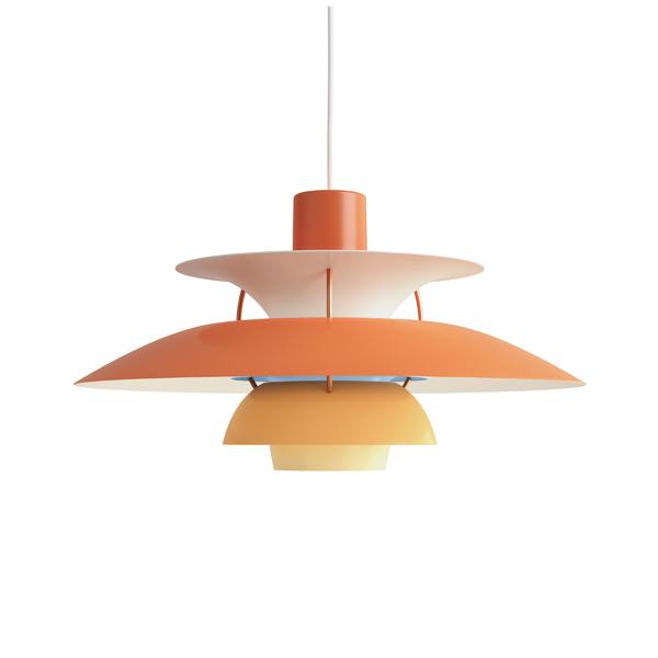 PH5 オレンジ・グラデーション (LED電球付) (橙)プレゼント付(白熱電球150W/簡単調節コードリール)