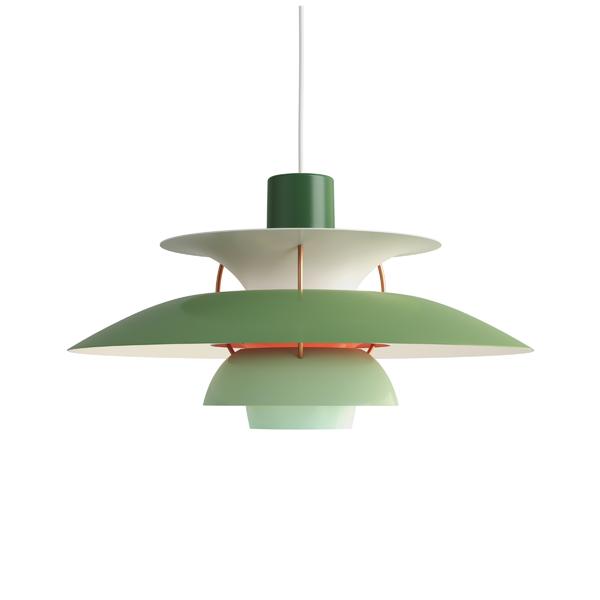 PH5 グリーン・グラデーション (LED電球付) (緑)Louis Poulsen ルイスポールセンプレゼント付(白熱電球150W/簡単調節コードリール)【正規品】